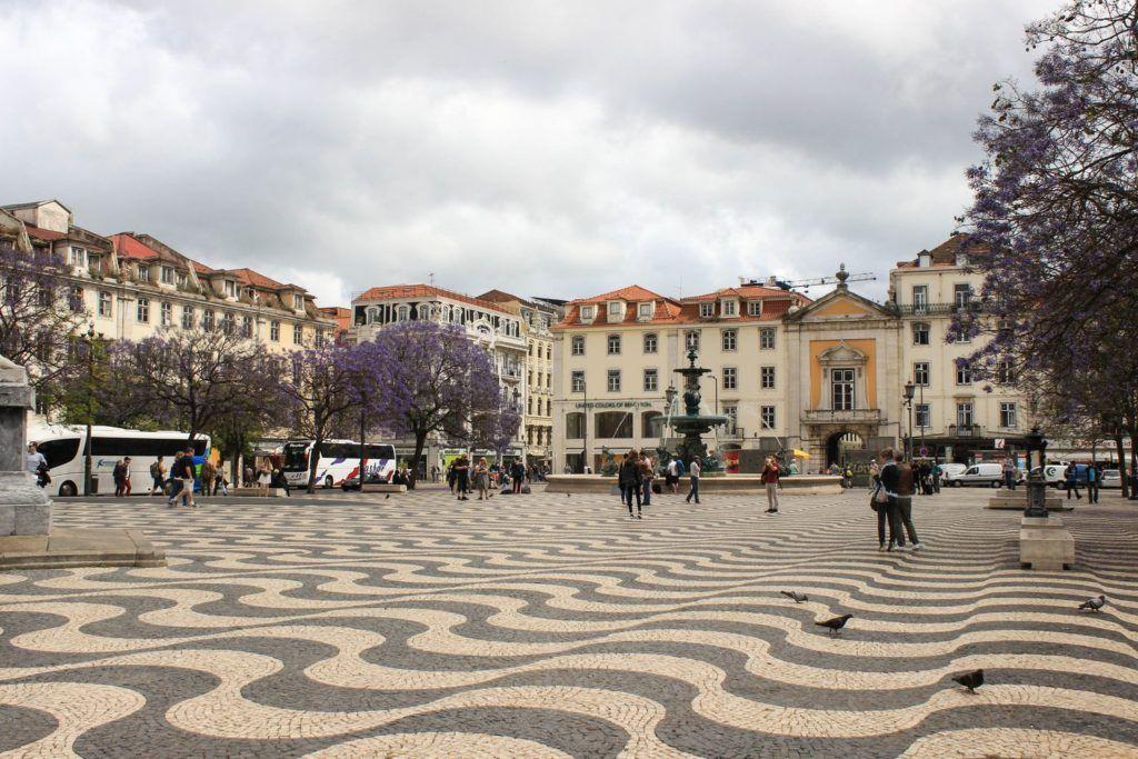 Praça de D. Pedro IV Rossio Lissabon