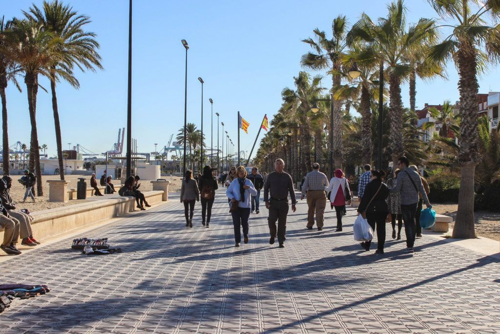 De boulevard van Valencia