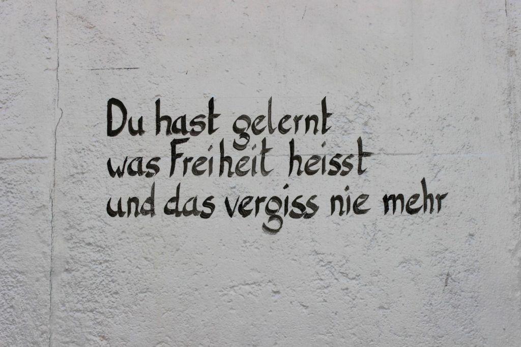 East Side Gallery Berlijn: Du hast gelernt was Freiheit heisst und das vergiss nie mehr