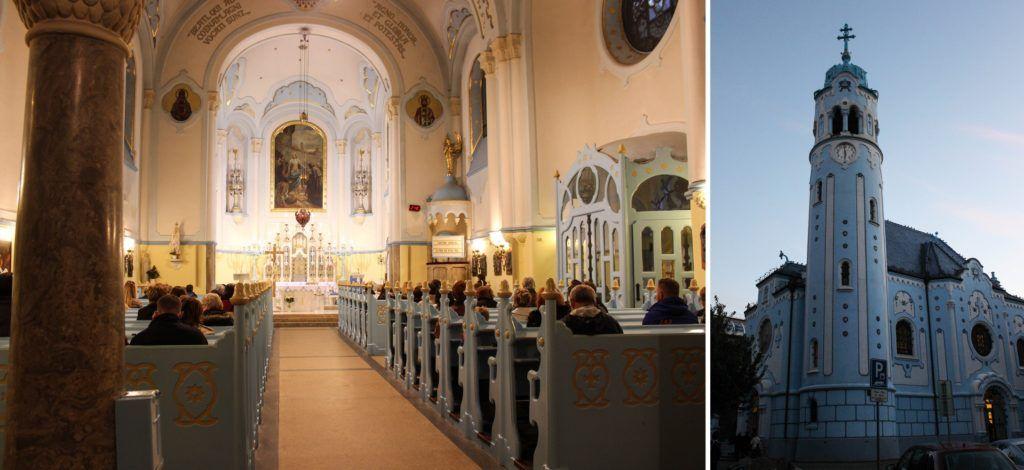 St. Elisabethkerk in Bratislava: De Blauwe Kerk