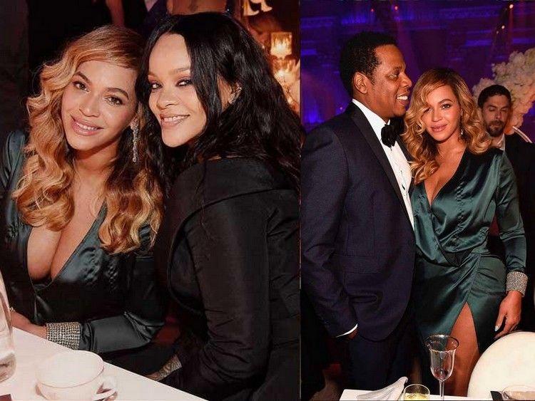 Beyoncé, Rihanna en Jay-Z bij het Annual Diamond Ball