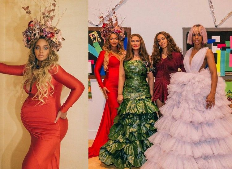Beyoncé, Kelly, Tina & Solange bij het Wearable Art Gala