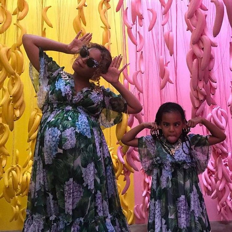 Beyoncé & Blue Ivy tijdens moederdag