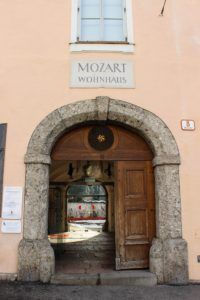 Het Mozart woonhuis in Salzburg