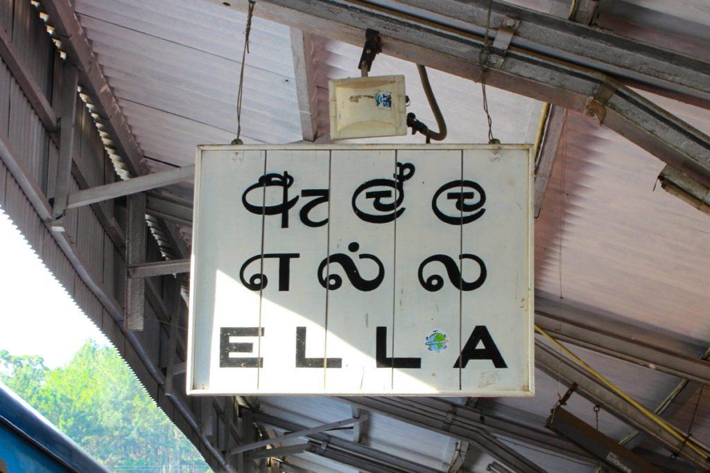Treinstation in Ella