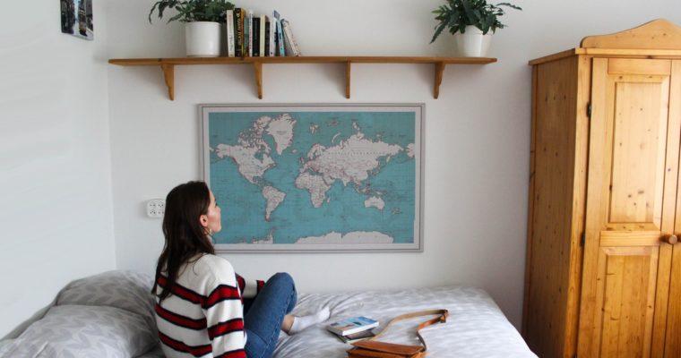 Review: Wereldkaart op canvas van Wereldkaarten.nl
