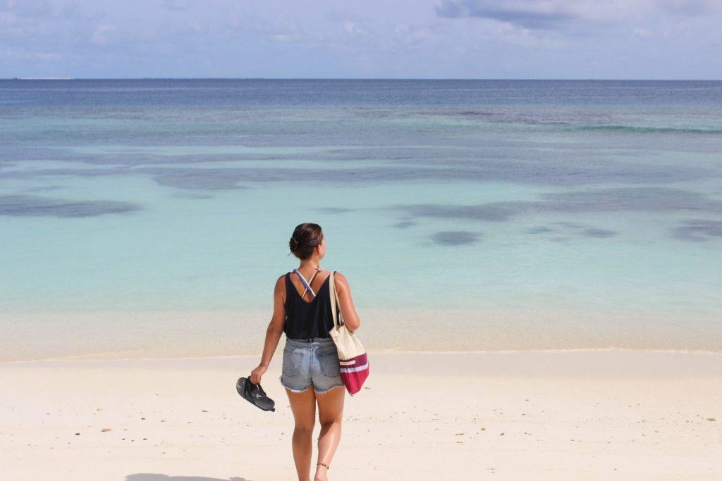 Het strand op Maafushi