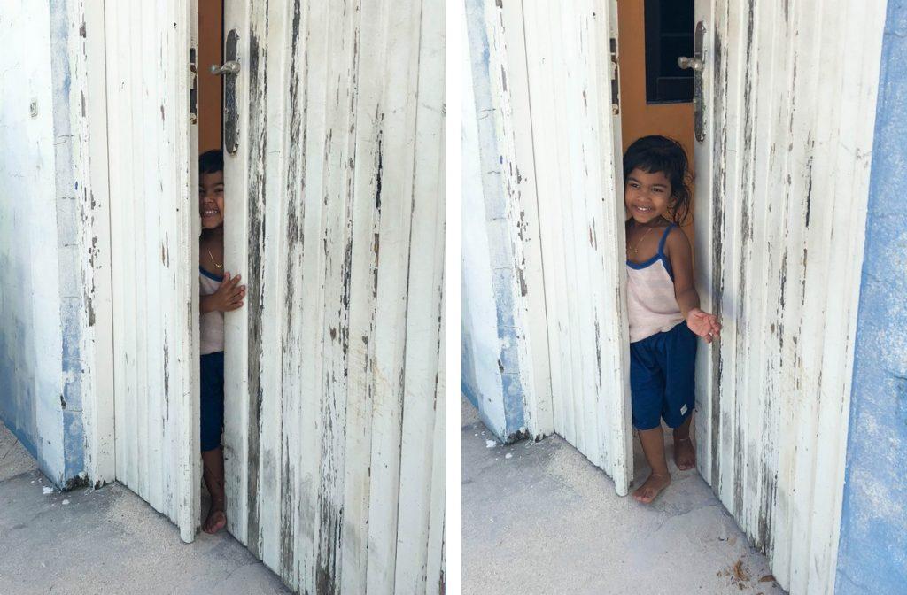 Meisje op de Malediven