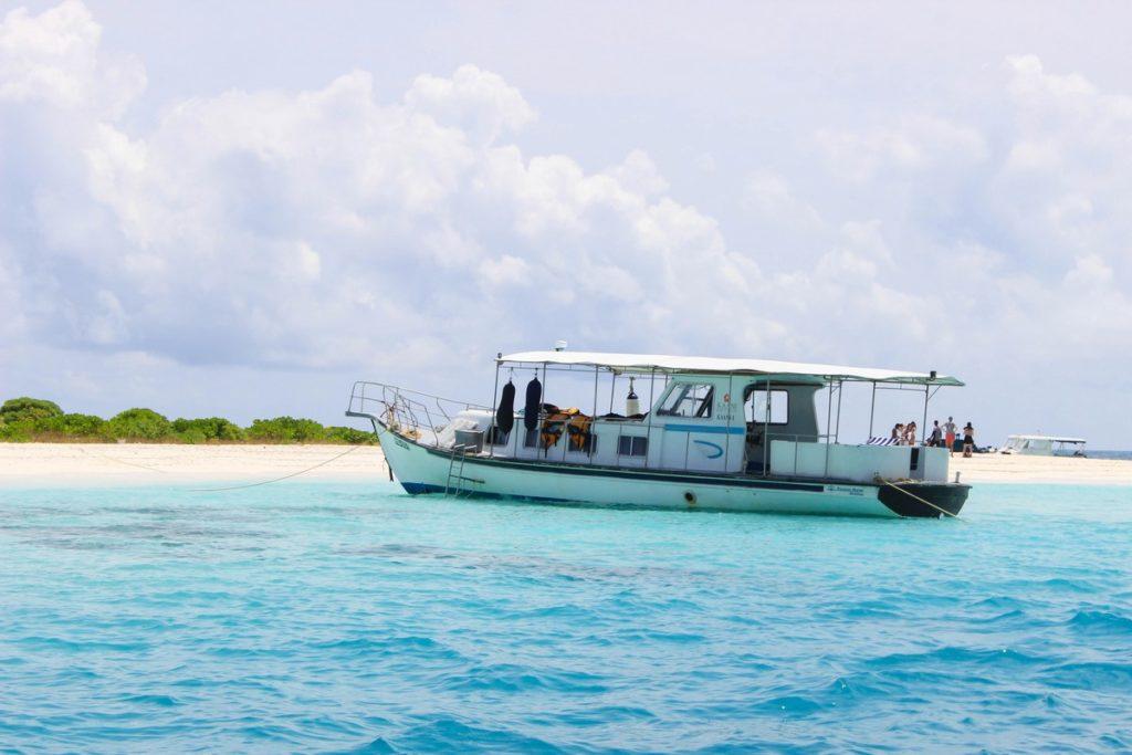 Sandbank op de Malediven