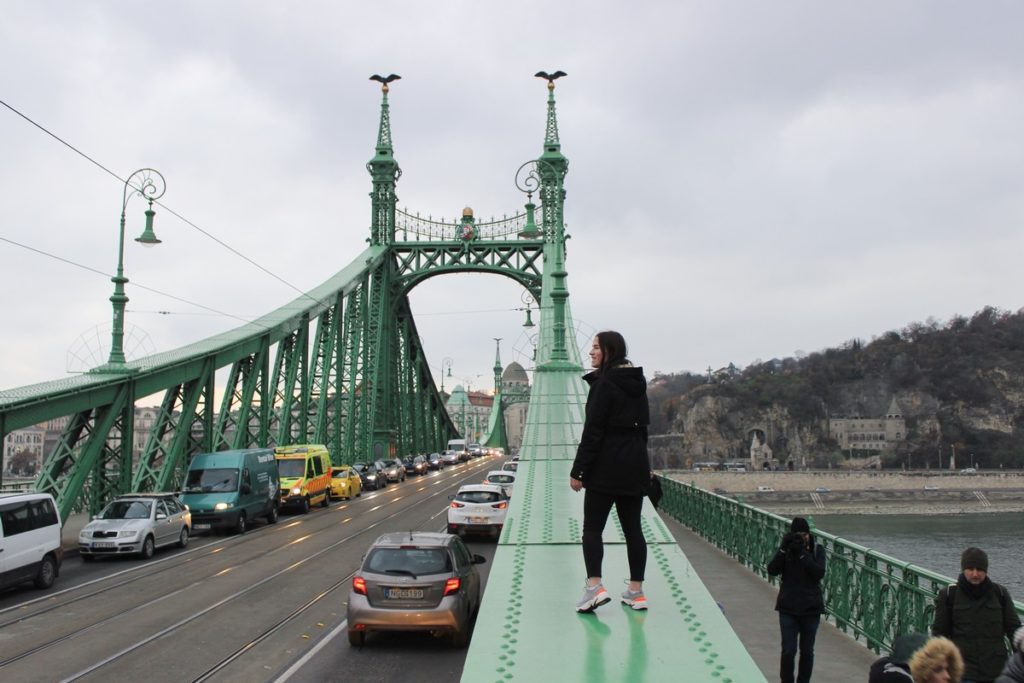 Op de Vrijheidsbrug in Boedapest
