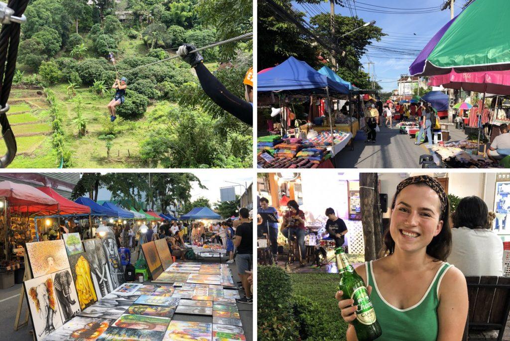 Dag 6: Ziplinen en markt in Chiang Mai