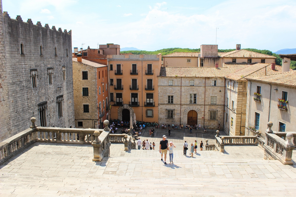 Uitzicht vanaf de Kathedraal van Girona