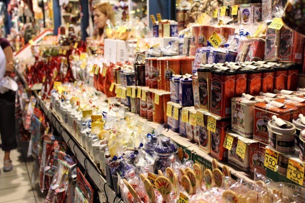 Paprika poeder Boedapest centrale markthal