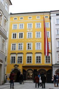 Het Mozart geboortehuis in Salzburg