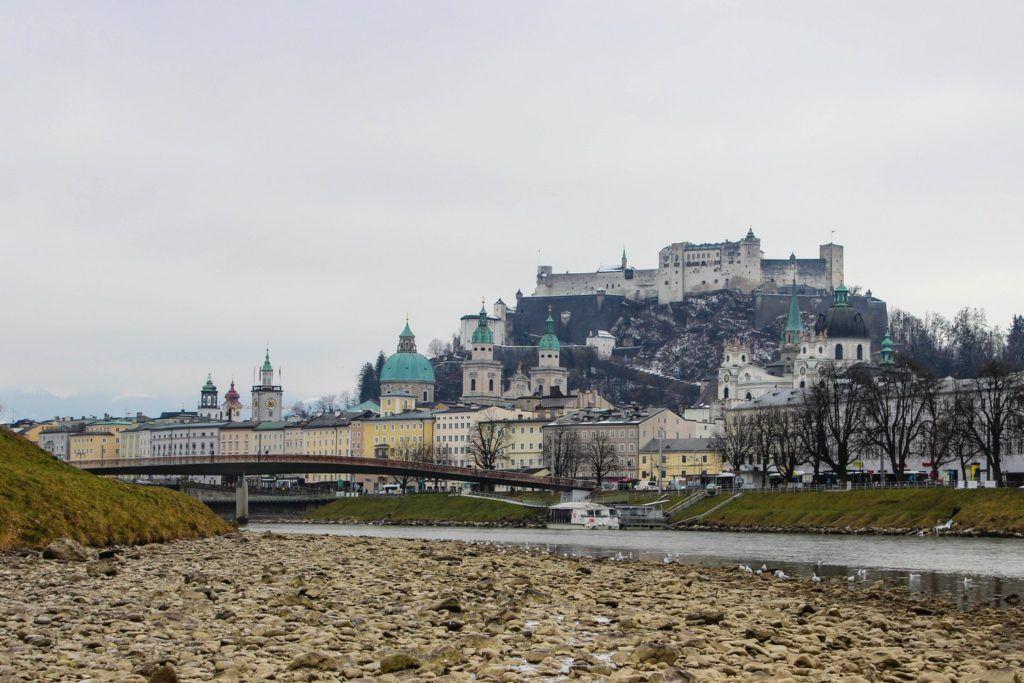 Perfect uitzicht op Salzburg