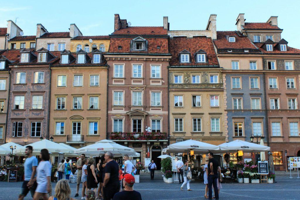 Het oude marktplein in Warschau