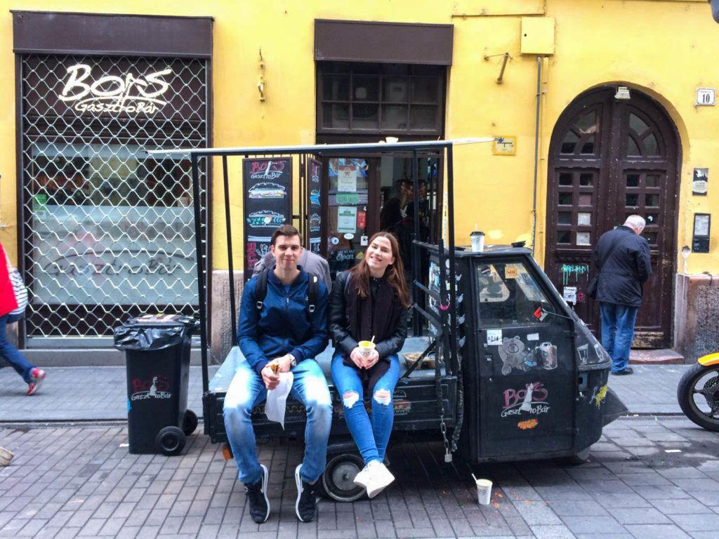 Met mijn schoonbroer in Boedapest