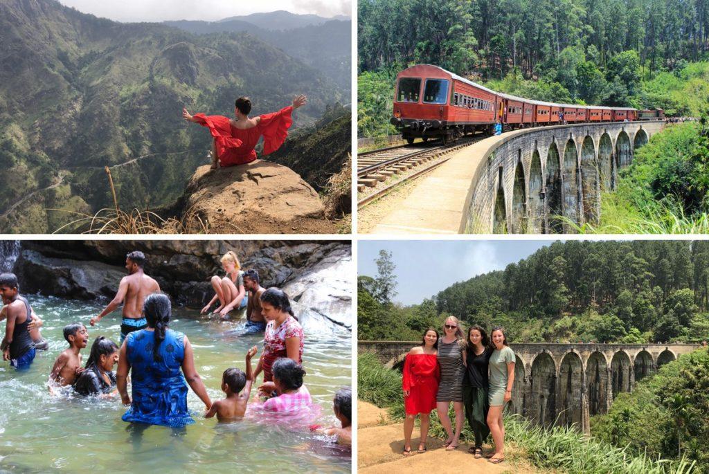 De Nine Arch Bridge, Little Adam's Peak en de Ravana Waterfalls in Ella