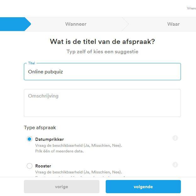 Datumprikker.nl voor een online pubquiz