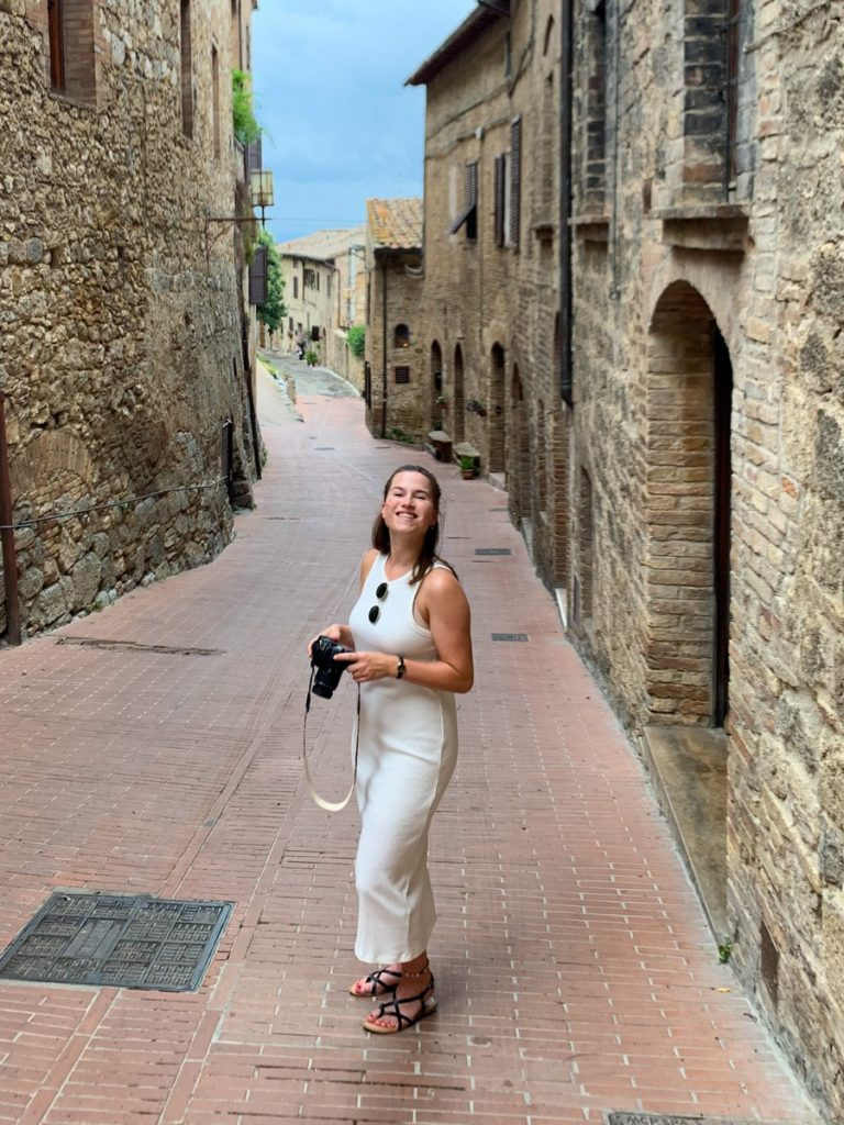 Bregke Scholten in San Gimignano